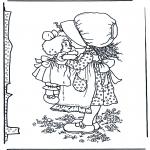 Litt av hvert - Girl with doll