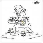 Småbarn - Girl with flowers
