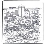 Bibelsk - Haealing of the paralysed man 2