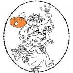 Temaer - Halloween borduurkaart