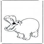 Dyr - Happy hippo