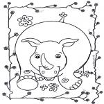 Småbarn - Happy rhino