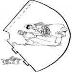 Pricking cards - Hoedje Sint 3