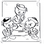 Tegneseriefigurer - Huey, Dewey and Louie 1