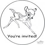 Kreativitet - Invitation Bambi