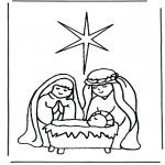 Bibelsk - Jesus in crib