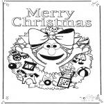 Kreativitet - Kaart vrolijk kerstfeest