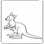 Dyr - Kangaroo with baby