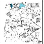 Pricking cards - Kleurplaat Sint 2