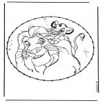 Broderkort - Lion king stitching