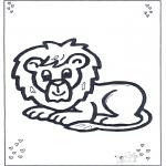 Dyr - Lion lying