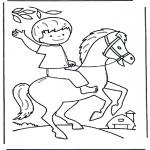 Småbarn - Little boy on horse