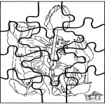 Kreativitet - Little elf puzzle
