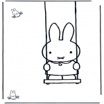 Småbarn - Little rabbit on swing