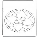 Broderkort - Mandala 27