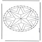 Broderkort - Mandala 28