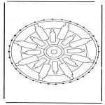 Broderkort - Mandala 32