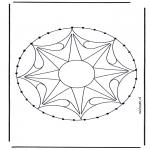 Broderkort - Mandala 33