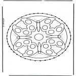 Broderkort - Mandala animals