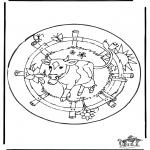 Mandala - Mandala cow