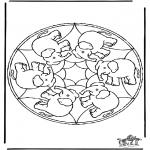 Mandala - Mandala elephant