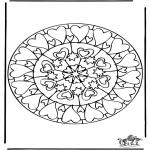 Mandala - Mandala hearts 6