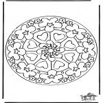 Mandala - Mandala hearts 7