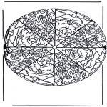 Mandala - Mandala santa claus