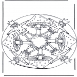 Litt av hvert - Mandala with mushroom 1