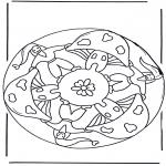 Litt av hvert - Mandala with mushroom 2