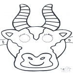Kreativitet - Mask Cow 1