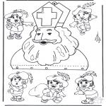 Pricking cards - Mobiel Sinterklaas
