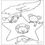 Dyr - Mouse at Christmas star