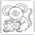 Dyr - Mouse with cheese