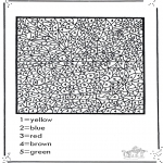 Kreativitet - Number coloring