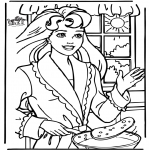 Tegneseriefigurer - Pancake baking