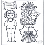 Kreativitet - Paper doll 3