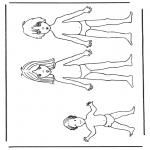 Kreativitet - Paper doll children