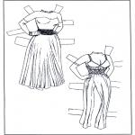 Kreativitet - Paper doll Clothing 1