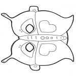 Kreativitet - Paper mask butterfly