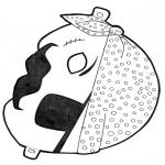 Kreativitet - Paper mask pirate
