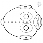 Kreativitet - Paper mask ufo