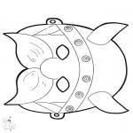 Kreativitet - Paper mask Viking