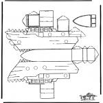 Kreativitet - Papercraft boat