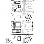 Kreativitet - Papercraft house 1