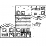 Kreativitet - Papercraft house 3