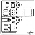 Jul - Papercraft xmashouse 1