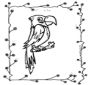 Parrot on stick