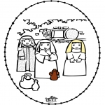 Bibelsk - Pasen borduurkaart