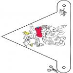 Temaer - Pasen vlaggetje